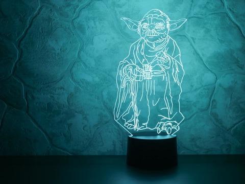 3D светильник Йода