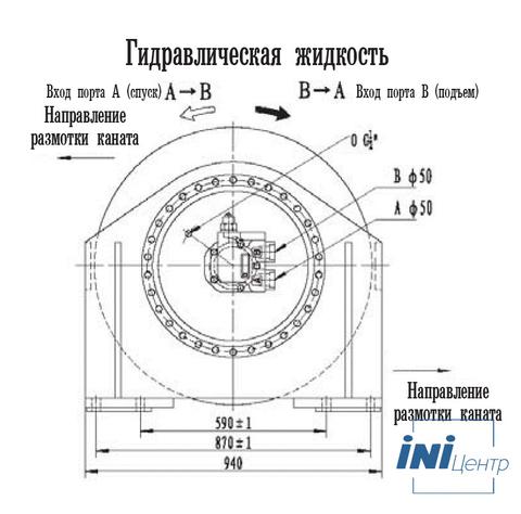 Стандартная лебедка IYJ56-180-196-34-ZP