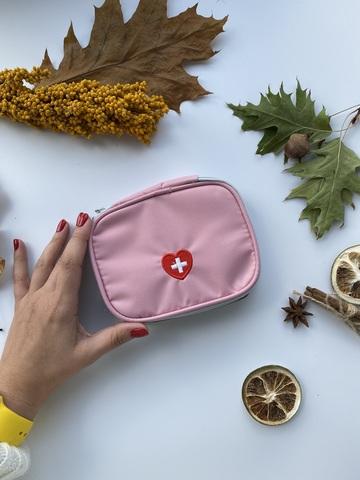 Косметичка дорожная для медикаментов /маленькая розовая/