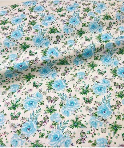 Ткань хлопковая цветы
