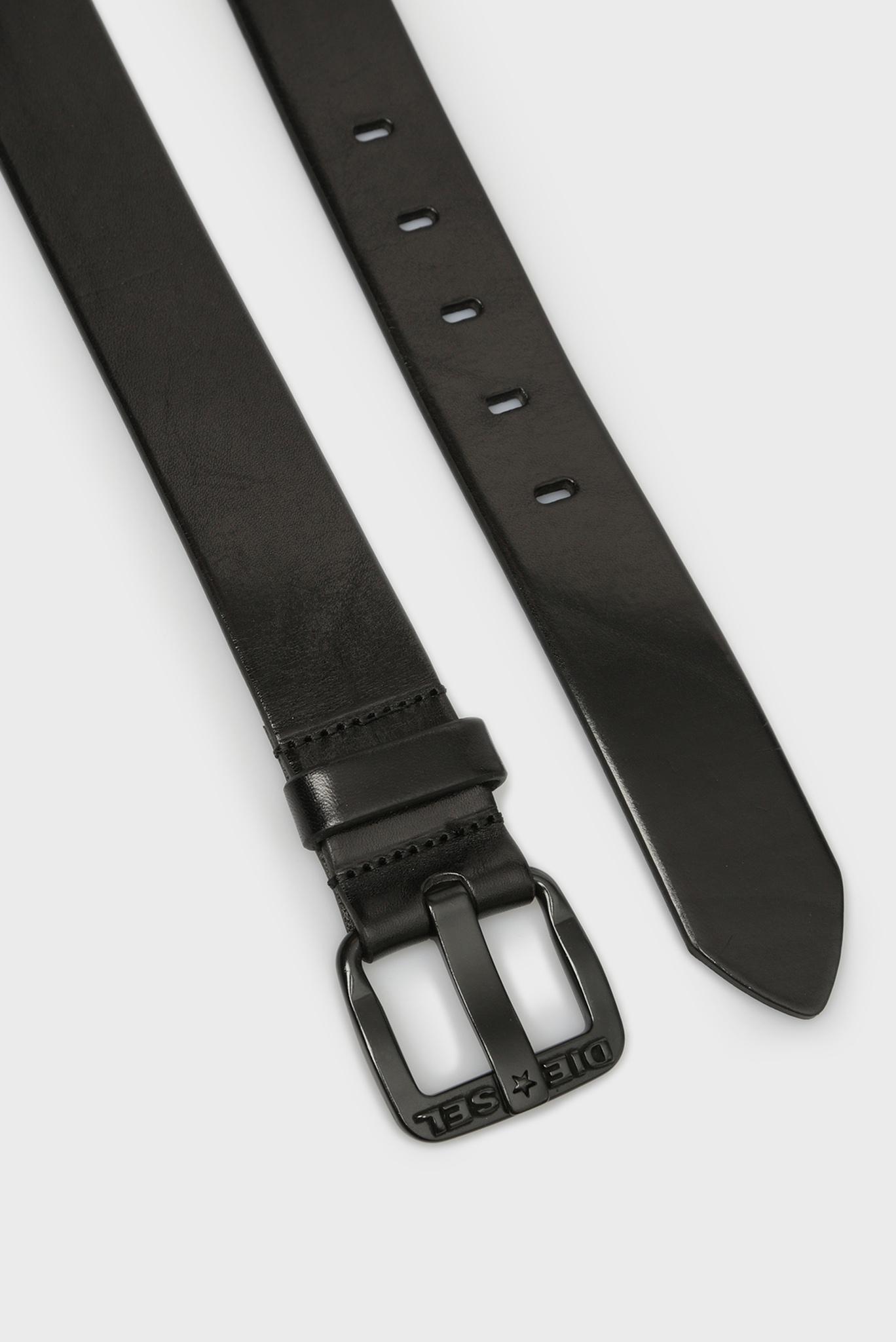 Мужской черный кожаный ремень H5902 Diesel