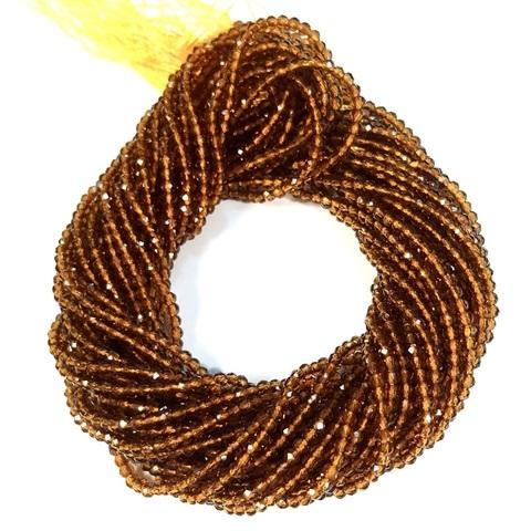 Бусины шпинель (имитация) граненая 2 мм цвет коньячный цена за 185 бусин (~37 см)