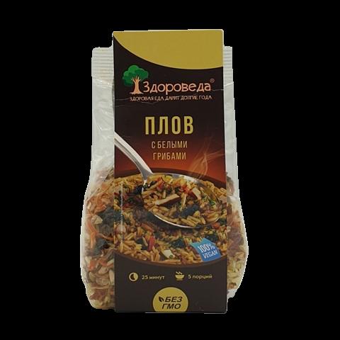 Плов с белыми грибами и овощами ЗДОРОВЕДА, 250 гр