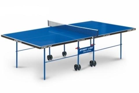Стол теннисный всепогодный Start line Game Outdoor с сеткой BLUE