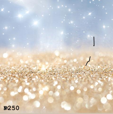 Фотофон виниловый «Золотой и серый боке» №250