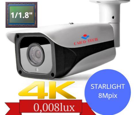 Уличная светочувствительная камера наблюдения STARLIGHT CAICO DDS 1080A с ИК Utra HD 4K