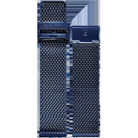 Стальной браслет миланского плетения синий от Pierre Lannier 22ММ BRA034A2266