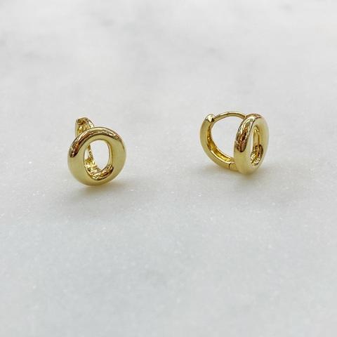 Серьги мини-конго Колечко 1 см (золотистый)