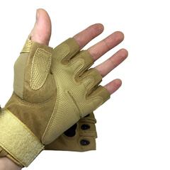 Перчатки тактические со вставкой, без пальцев, койот
