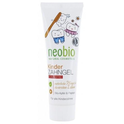 NEOBIO Гелевая зубная паста для детей без фтора с био-яблоком и папайей 50 мл