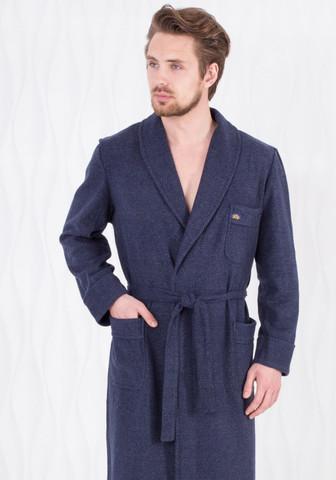 Мужской домашний халат с карманами