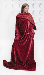 Плед с рукавами Gekoko Premium «Бордо» 5