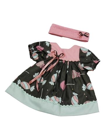 Платье - Черный. Одежда для кукол, пупсов и мягких игрушек.