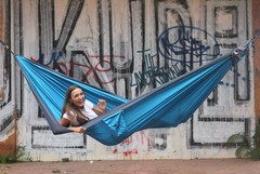 Гамак средний Ticket to the Moon Original Hammock Aqua/Dark Grey
