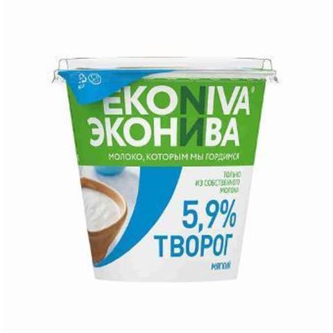 Творог Эко-нива 5.9% стакан  ИП