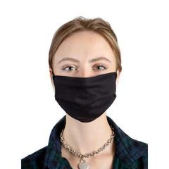 Маска защитная многоразовая текстильная черная (10 штук в упаковке)