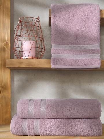 Полотенце махровое KARNA PETEK 100x150 см цвет грязно-розовый