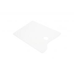 Палитра акриловая прямоугольная, белая, 25х30см, оргстекло 2мм, ПБ25302