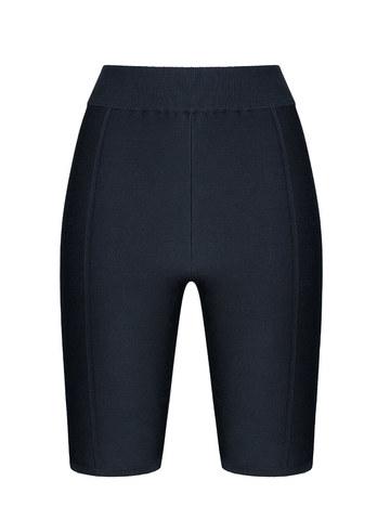 Женские шорты черного цвета из 100% шелка - фото 1