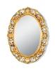 Зеркало овальное ажурное Migliore ML.COM-70.703 (80x58x4) золото