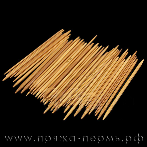 Спицы 5-комплектные бамбуковые 13 см