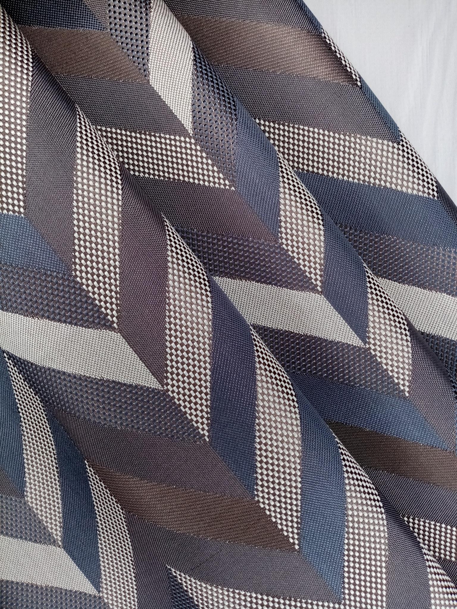 Ткань для портьер шеврон меланжевый компаньон