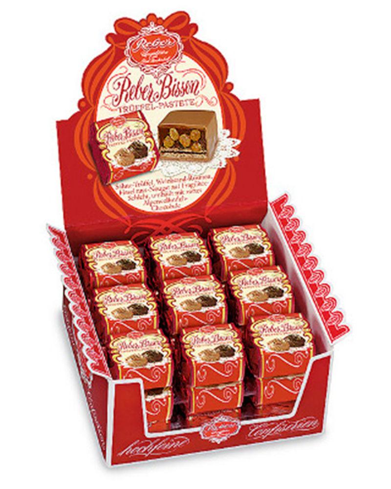 Конфеты Reber из молочного шоколада со сливочно-трюфельной начинкой и вафельной прослойкой, 43 гр.