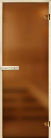 Дверь Стандарт 8мм бронза матовая, коробка осина/липа