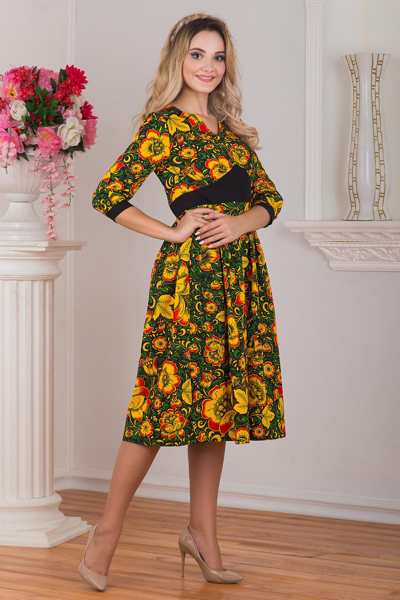 Вид сбоку Платье Русская былина