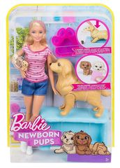 Кукла Барби с новорожденными щенками