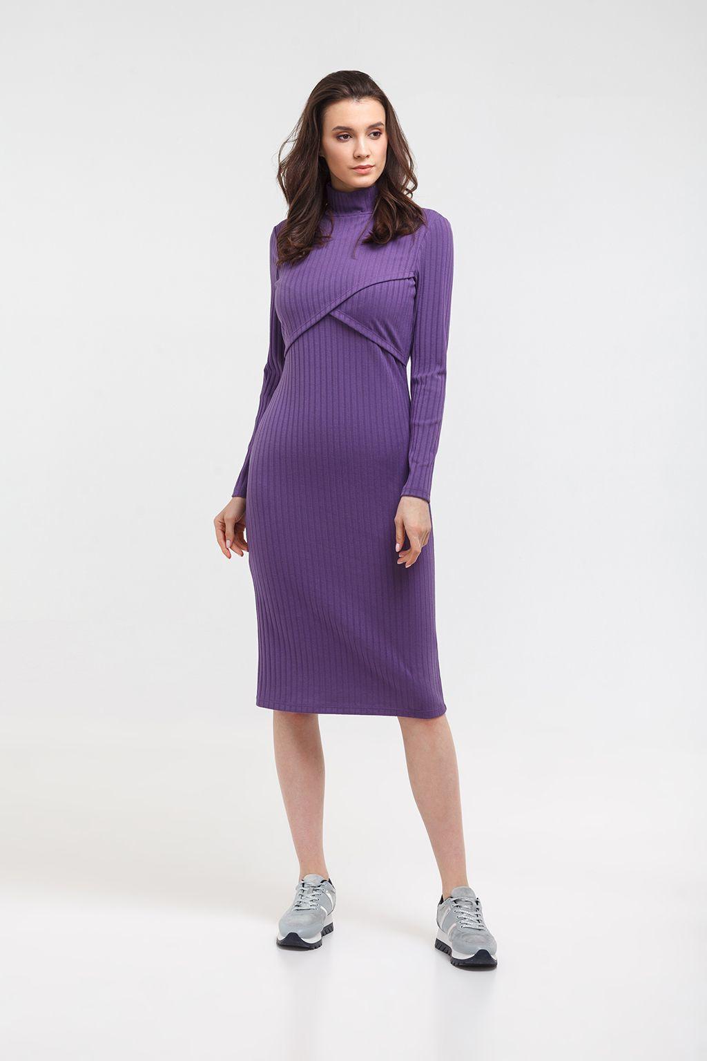 Платье-водолазка для будущих и кормящих мам - Фото 1