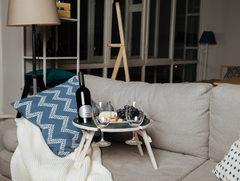 Складной столик для вина, графитовый, фото 1