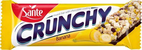 Sante Батончик мюсли Crunchy с бананом в шоколаде, 40г