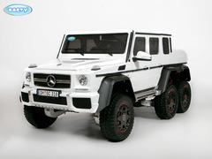 Электромобиль BARTY Mercedes-Benz G63-AMG 4WD шестиколесный белый