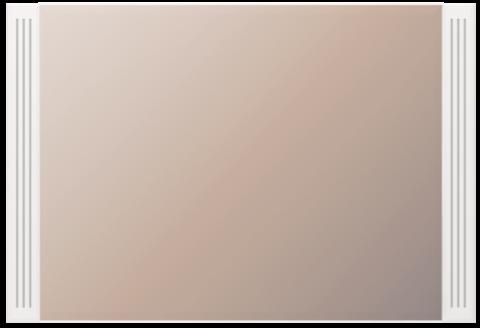 Зеркало настенное Виктория 7 Ижмебель белый глянец