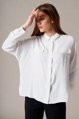 Блуза из сатина