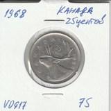 V0917 1968 Канада 25 центов