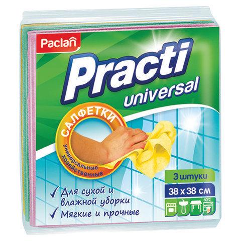 """Салфетки """"Paclan""""  вискоза универсальные 3 шт 30*38см"""