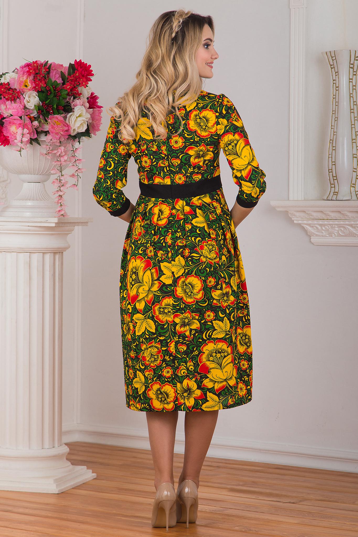 Вид сзади Платье Русская былина