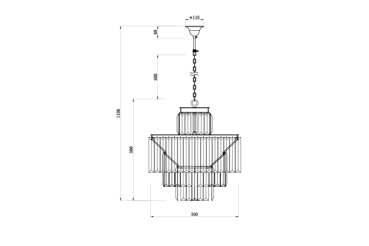 15-D6000-11AMBER Светильник потолочный 63*52см
