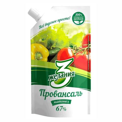 Майонез 3 ЖЕЛАНИЯ Провансаль 700 гр КАЗАХСТАН