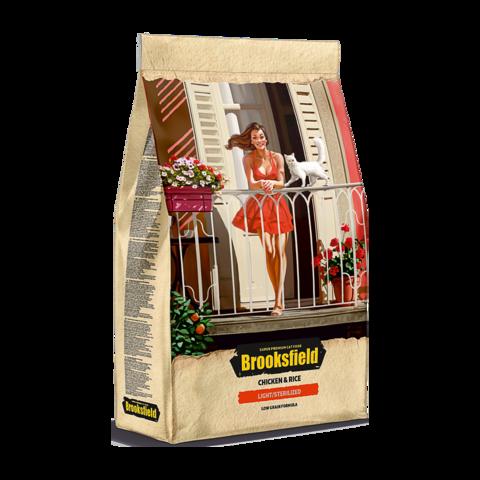 Brooksfield Light/Sterilized Chicken & Rice Сухой корм для кошек с избыточным весом и стерилизованных с курицей