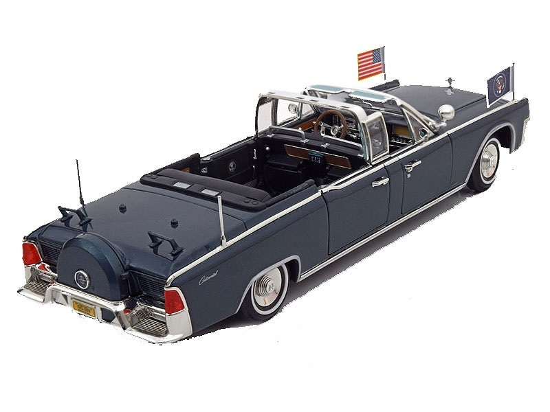 Коллекционная модель Lincoln X-100 President Kennedy Car 1961 Black