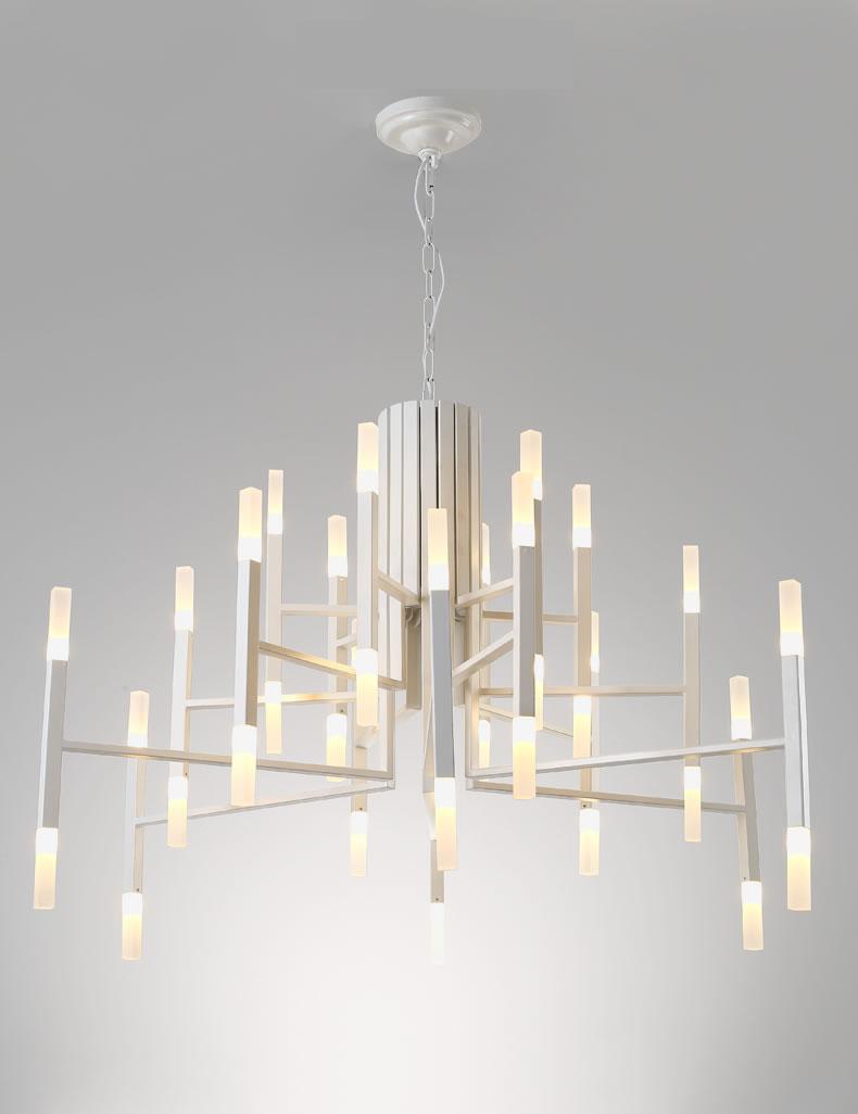 Подвесной светильник копия THE LIGHT by Alma 30 плафонов (белый)