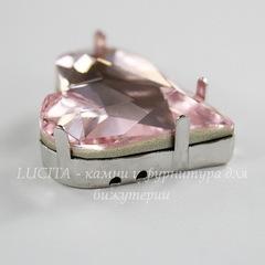 4809/S Сеттинг - основа Сваровски для страза Sweet Heart 27х25 мм (цвет - античное серебро)