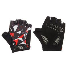 Велоперчатки JAFFSON SCG 46-0384 (чёрный/белый/красный)
