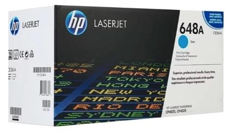 Оригинальный картридж HP CE261A 648A голубой
