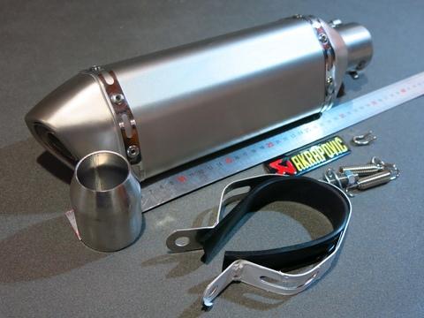 Глушитель Akrapovic Honda Suzuki Yamaha Kawasaki стальной для мотоцикла