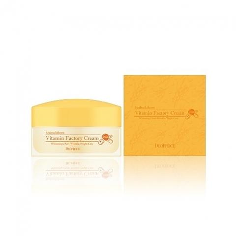 Deoproce Seabuckthorn Vitamin Factory Cream ночной омолаживающий крем с витамином С