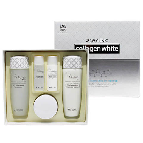 Набор для комплексного ухода за кожей лица 3W Clinic с эффектом осветления